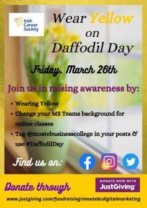 Wear Yellow for Daffodil Day
